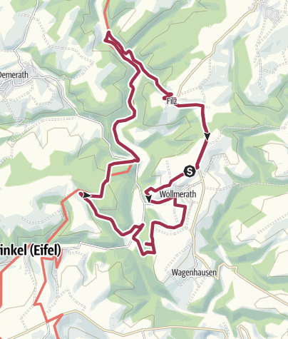 Karte / Rundwanderung Wollmerath-Filz-Wollmerath