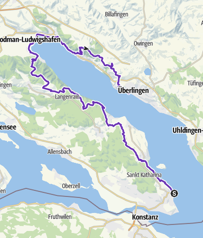 Karte / BODENSEE ULTRATRAIL 53k - Seegang