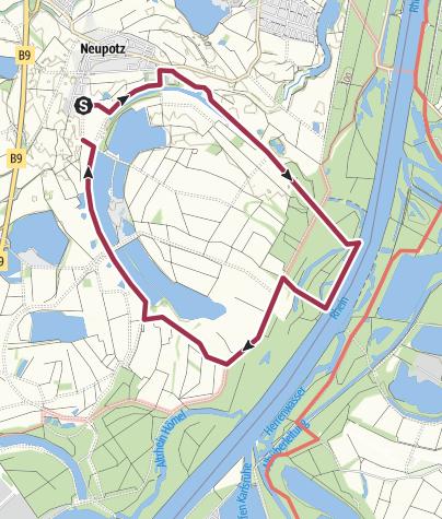 Mappa / Fischerweg Neupotz, 10 km, mit Kinderwagen