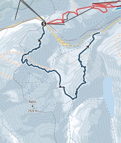 Karte / Vom Oberalppass zum Piz Cavradi über den Pazolastock