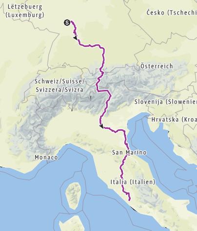 Karte / Tourenplanung am 24. März 2019