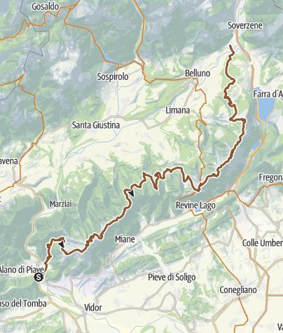 Cartina / Epic Trail Da Fener a Ponte Nelle Alpi