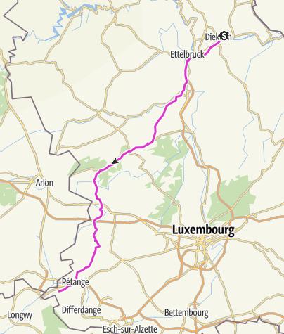 Carte / Diekirch - Rodange