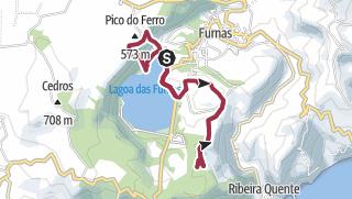 Map / Pico do Ferro und Areia, Azoren 4