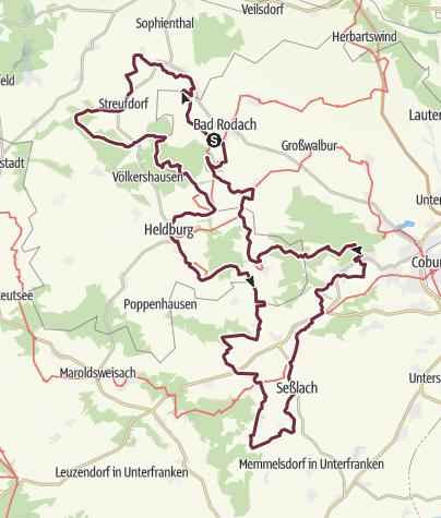 Karte / Zweiländerweg Rodachtal