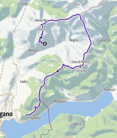 Karte / Monte Bar Trail 16km