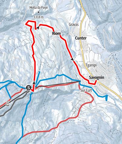 Map / Tigignas - Riom - Cunter - Savognin