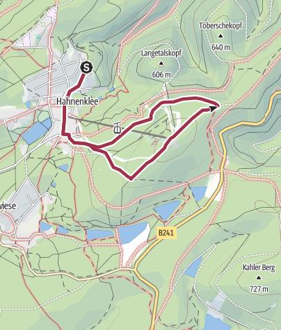 Map / Bocksberg - Erlebnisberg - Rundwanderweg, 5,6 Km, 182 Hm, 1:37 Std.