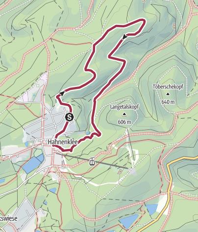 Map / Langeliether Hütte, 6,1 Km,  118 Hm, 1:44 Std.