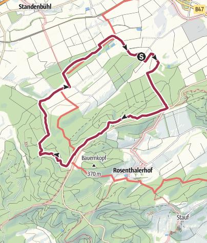 Karte / Göllheimer Häuschen nach Füllenweide, 02.04.19