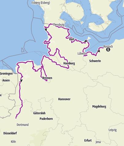 Karte / Tourenplanung am 4. April 2019