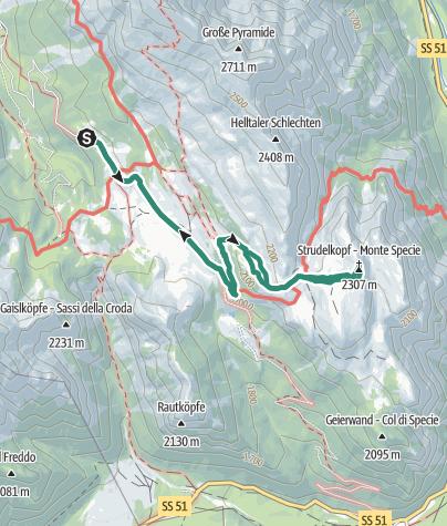 Cartina / Monte Specie: il balcone sulle Dolomiti in inverno