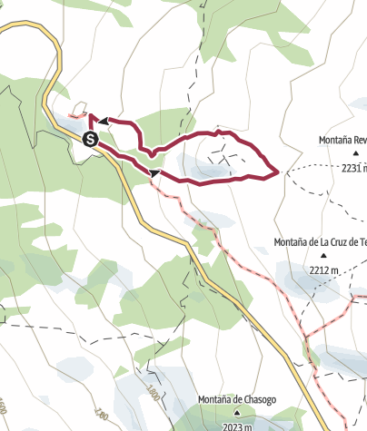 Map / Tenerife: okruh kolem Montaňa de la Botija s dětmi