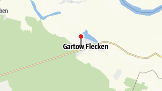 Karte / Fahrradtour Gartow - Kovahl - Gartow