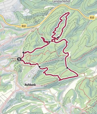 Map / Le Premiumwanderweg Felsenwald