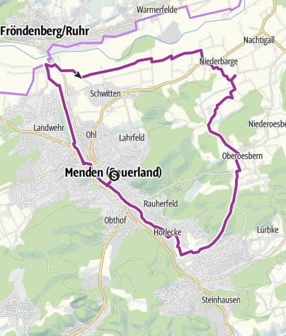 Karte / Stadtradeln Menden 2019, Auftakttour