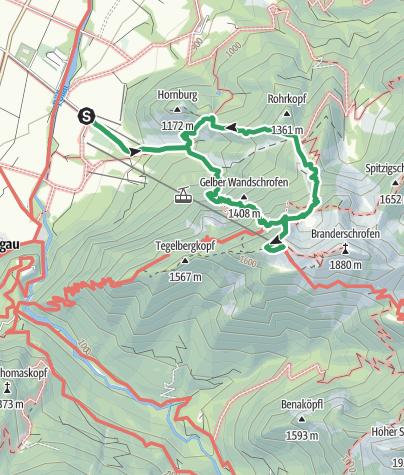 Map / Über den Tegelbergsteig zum Tegelberghaus