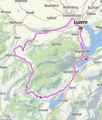 Map / Glaubenberg Tour