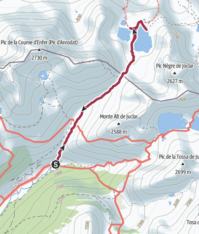 Map / Port d'Incles - Etangs de Fontargente