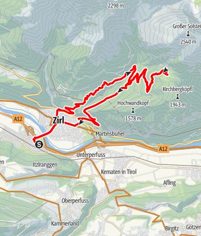 Karte /  Zirl-Neue Magdeburger Hütte-Zirl