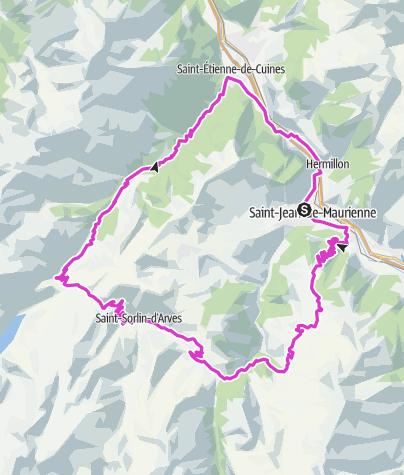 Map / Saint 'Jean Maurienne - Col de la Croix de Fer- Col de Glandon -