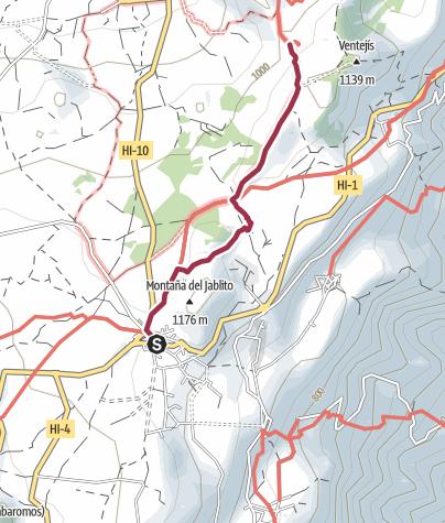 Karte / El Hierro: San Andrés - La Albarrada - Árbol Garoé