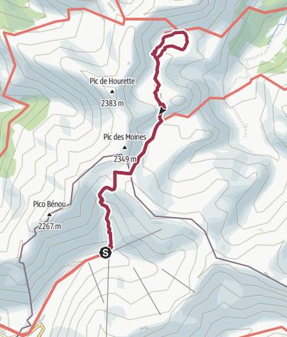 Carte / Col des Moines - Lac Gentau