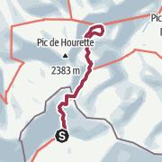 Map / Col des Moines - Lac Gentau