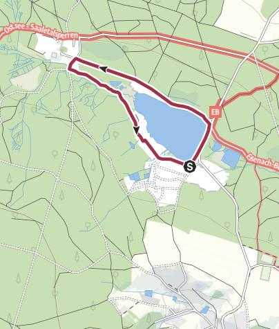 地图 / Rundwanderung Gerischer Teich