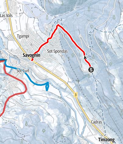 Map / Savognin - Soras - Rudnal
