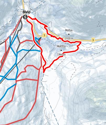 Map / Bivio - Alac - Tgavretga - Bivio