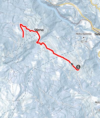 Map / Höhenwanderweg Mon - Stierva