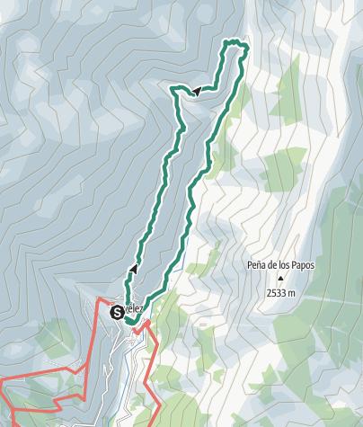 Map / Round walk from Trevelez along Rio Trevelez valley