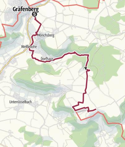 Karte / Frankenweg - Gräfenberg nach Lillinghof