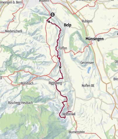 地图 / Gürbetaler Höhenweg