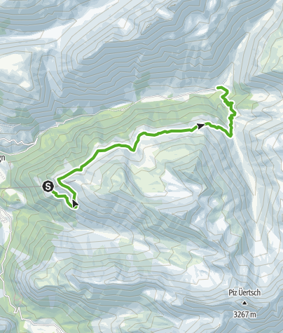 Map / Panorama trail in Val Tuors