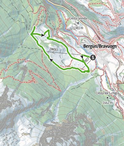 Karte / Bergüner Holzweg