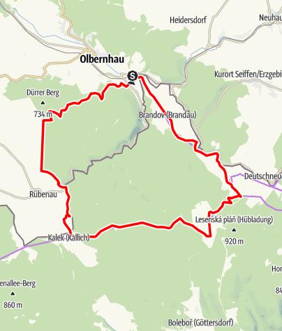 Karte / RR ERZ T11 Von Olbernhau zur Mitte der Radregion