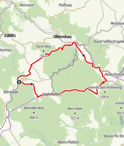 Karte / RR ERZ T12 Um Rübenau nach Katharinaberg