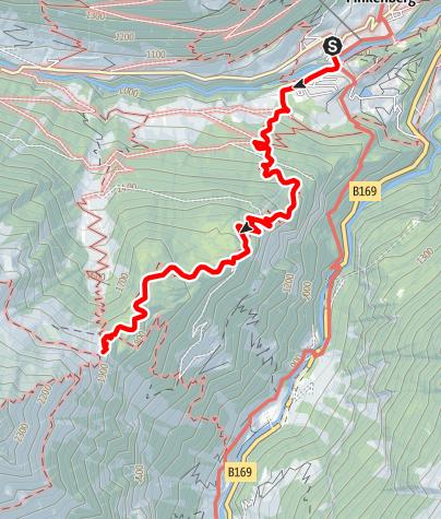 Karte / Berliner Höhenweg g. UZS, Etappe 1: Finkenberg - Gamshütte