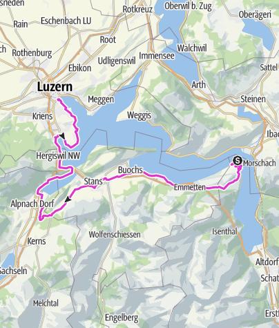 Map / Bike Vierwaldstättersee pt.2