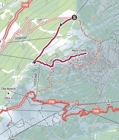 Map / Mont Chetif