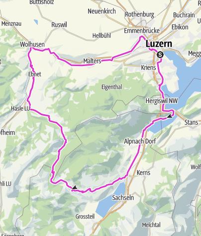 Map / Rad-Glaubenbergpass