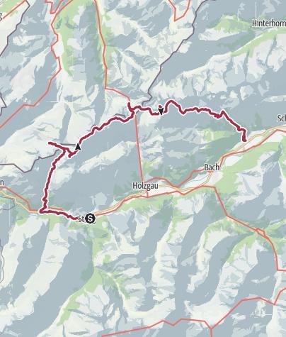 Cartina / 4 Tage Trip über den höchsten Gipfel der Allgäuer Alpen