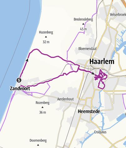 Karte / Zandvoort - Haarlem