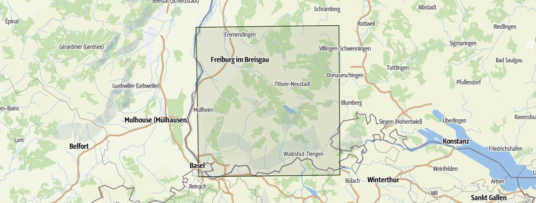 Karte / Süd-Schwarzwald