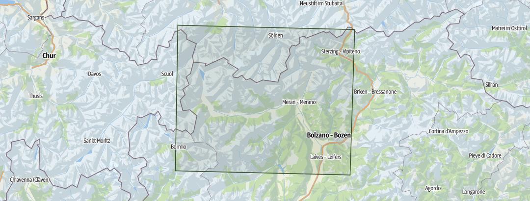 Karte / Südtirol Meran & Vinschgau