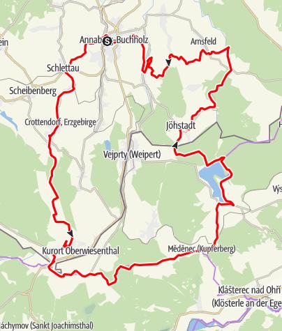 Karte / RR ERZ T15 Von Annaberg über Oberwiesenthal ins Pressnitztal