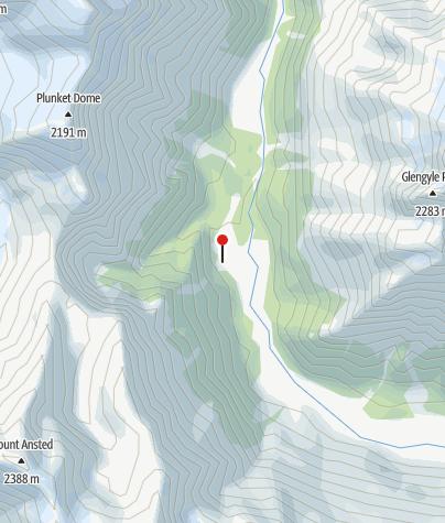 Karte / Aspiring Hut