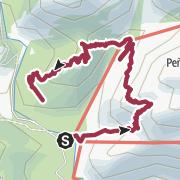 Map / loop to el Cáliz and refugio Giner